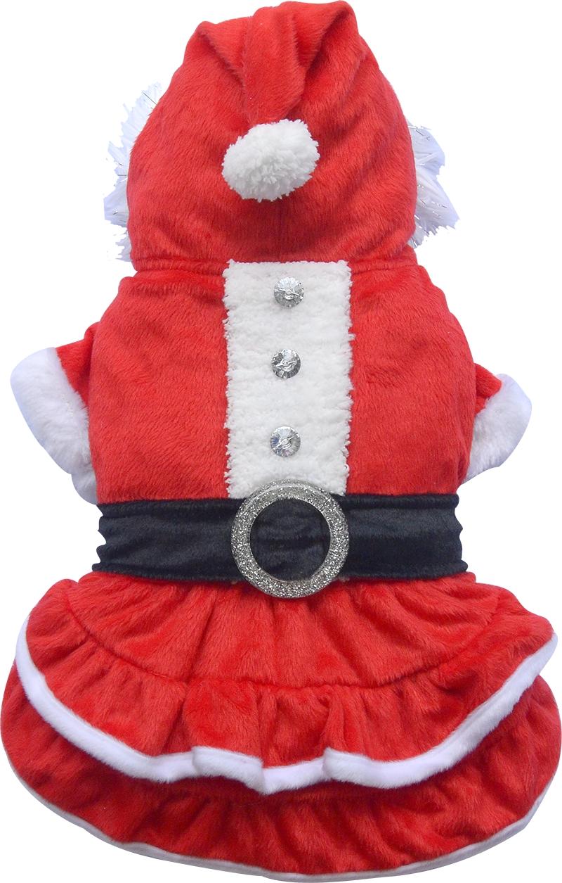 Vestiti Di Natale Per Cani.Vestitino Di Natale Rosso Per Cani Di Taglia Grande