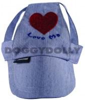 Cappellino per cani rosa con visiera. COD.CH006 4fc50fd21c0ee.jpg COD.CH006  Love me hat blue a5a4c78fdce6